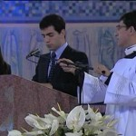 A Young Sodalit Reads at a Papal Mass