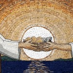 The mosaic symbolizes faith, humility, and trust in God.