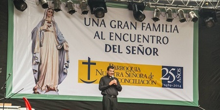 Fr. Juan Carlos Rivva, pastor of Our Lady of Reconciliation Parish