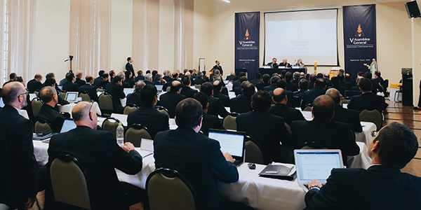 Work sessions during the V General Assembly of the Sodalitium Christianae Vitae - Sodalitium News